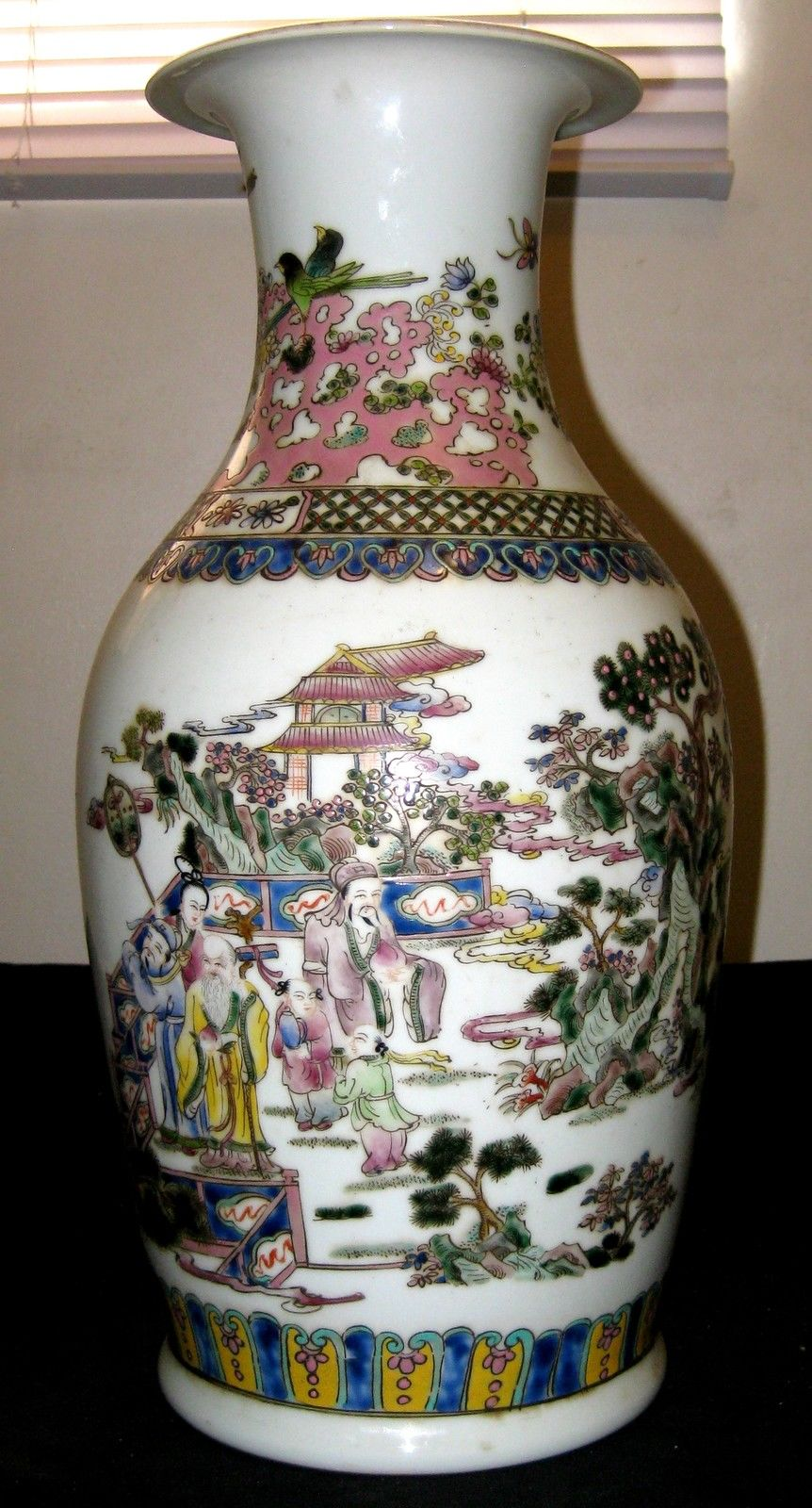 Antique Chinese Figures Painting Porcelain Vase, 19th C.,YongZheng Mark, NR.