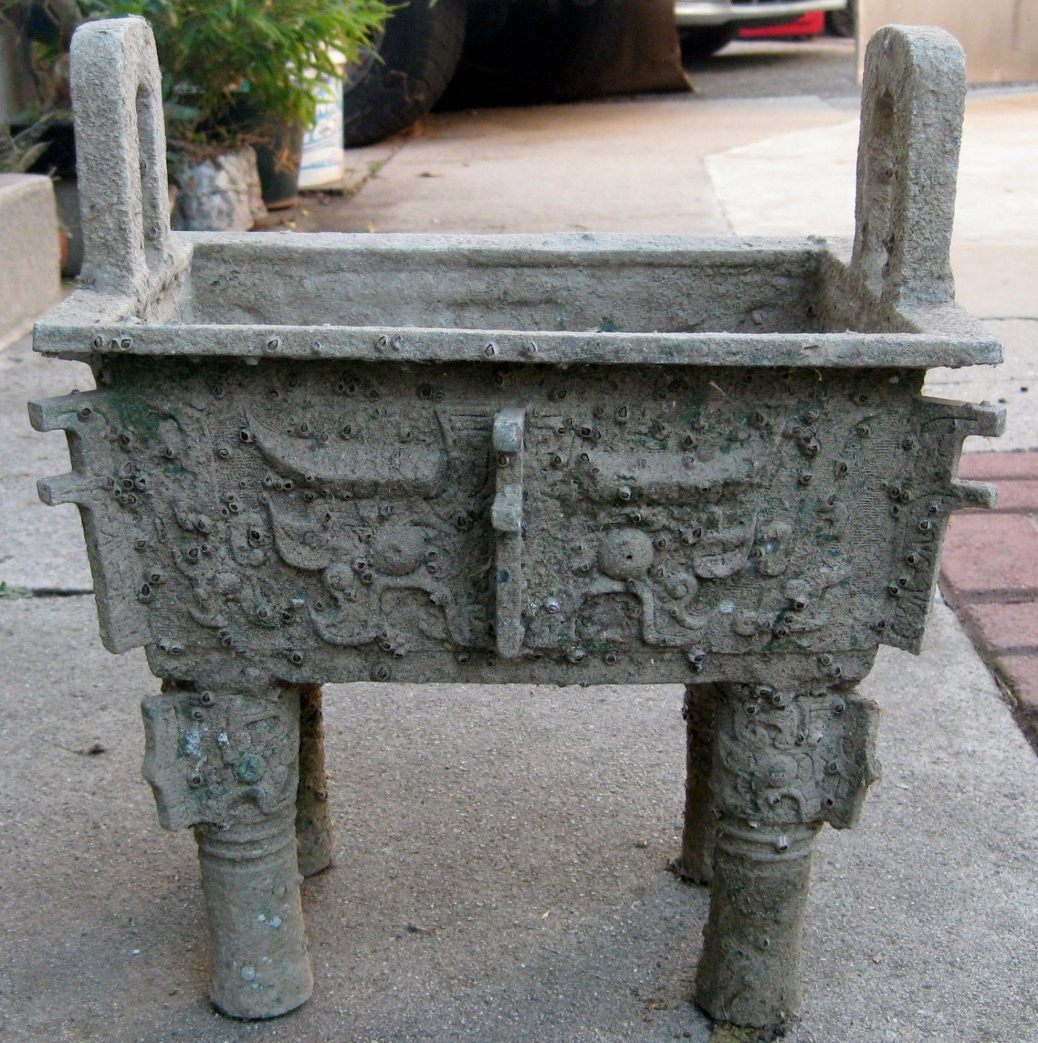 ANTIQUE CHINESE BRONZE BURNER, NR